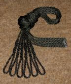 Six Black Lanyards - Fender Ropes (8mm x 1 metre)